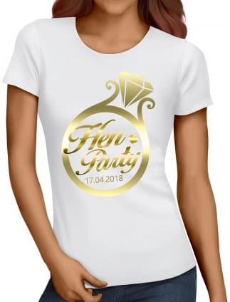 Gold Ring Hen Party T-Shirts