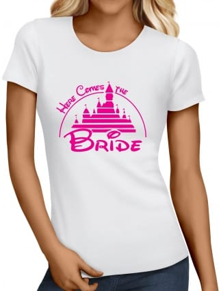 Magical Princess 'Here Comes the Bride' Hen Party T-shirts