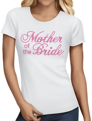Mother of the Bride Pink Diamante/Rhinestone T-Shirts
