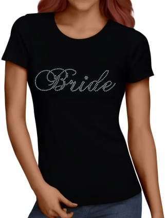 Bride Silver Diamante/Rhinestone T-Shirt
