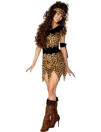 Cave Woman Fancy Dress Costume