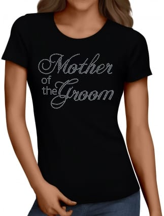 Mother of the Groom Silver Diamante/Rhinestone T-Shirts