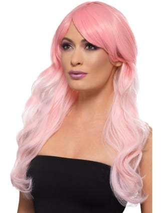 Fashion Ombre Wig Grey & Pastel Pink