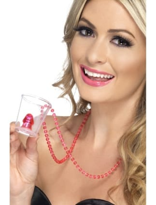 Hen Party Willy Shot Glass On Necklace