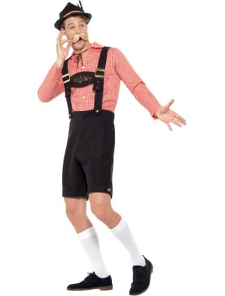 Oktoberfest Costume Red and Black