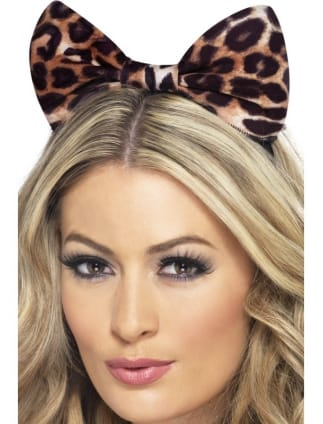 Fancy Dress Leopard Print Cave Girl Headband Accessory