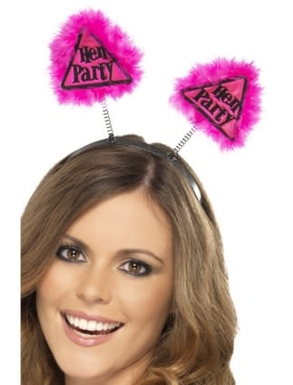 Hot Pink Hen Party Warning Head Boppers