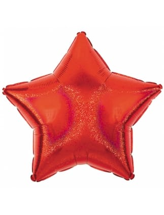Red Dazzler Star Helium Foil Balloon