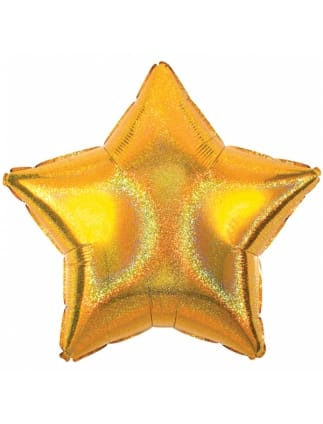 Gold Dazzler Star Helium Foil Balloon