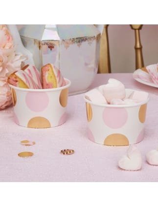 Gold and Pink Spotted Tubs