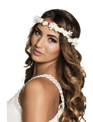Ibiza White Flower Headband