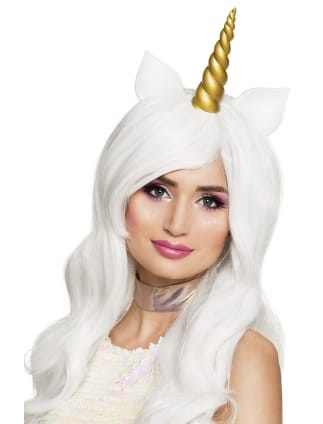 White Unicorn Wig Sunshine