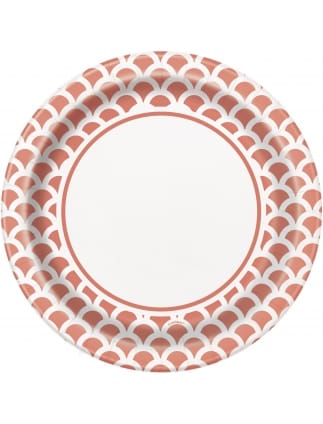 Large Coral Scallop Plates (Pack of 8)