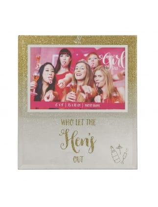 """Girl Talk"" Glitter Photo Frame"