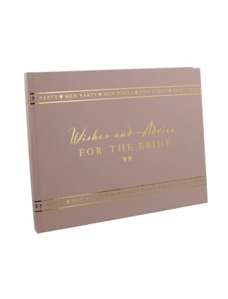 Wishes and Advice for the Bride Book