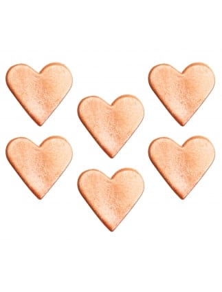 Rose Gold Heart Sugarcraft Toppers