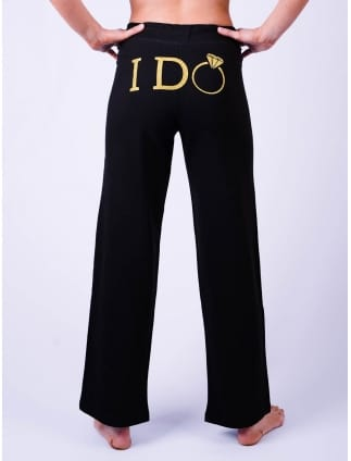 I Do Lounge Pants Black