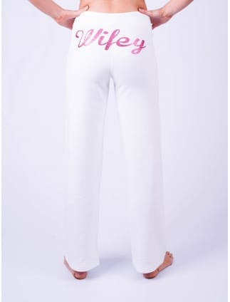 Wifey Lounge Pants White