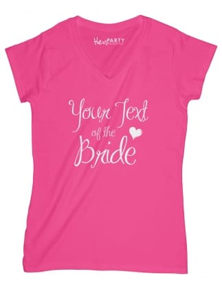 Elegant Your Text Of The Bride T-Shirts