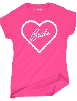 Frilly Heart 'Bride' Hen Party T-Shirts
