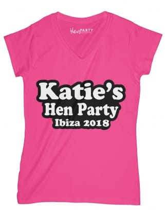 Bubble Personalised Hen Night T-Shirts