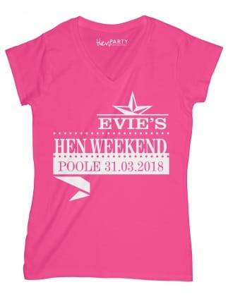Star Logo Personalised Hen Night T-Shirts