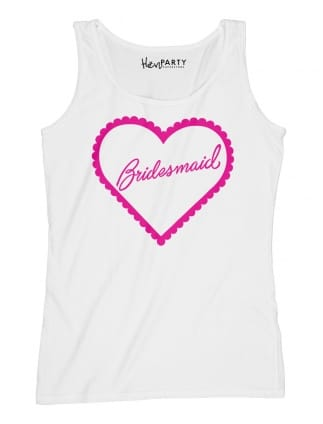 Frilly Hearts 'Bridesmaid' Hen Party T-Shirts