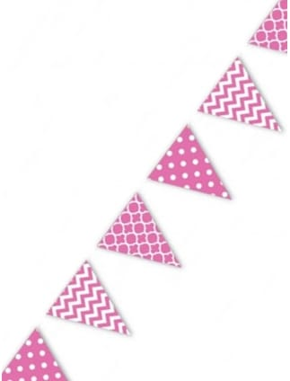 hen party bunting pink 365m
