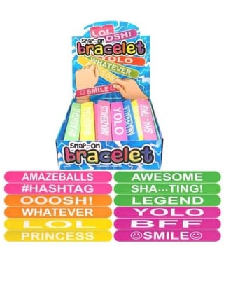 Assorted Silicone Worded Bracelets
