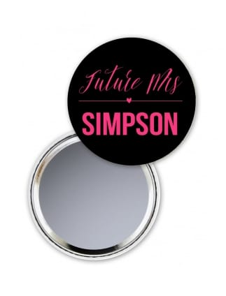 Future Mrs Personalised Hen Party Pocket Mirror