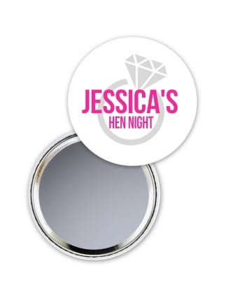 Personalised Ring Hen Party Pocket Mirror