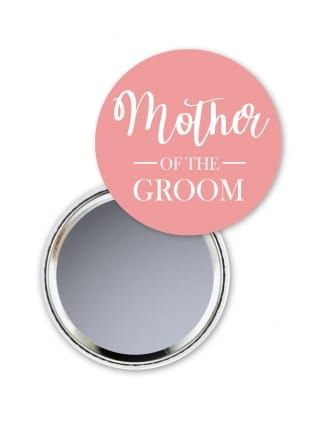 Blush Mother of the Groom Pocket Mirror