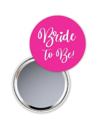 Bride To Be Pocket Mirror Hot Pink