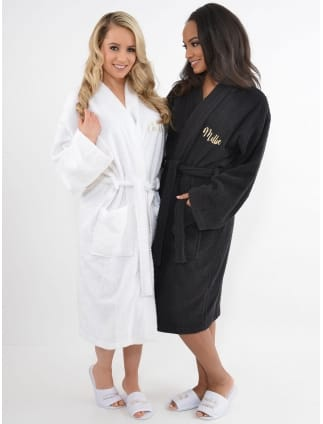 Luxury 100% Cotton Personalised Hen Party Spa Robe