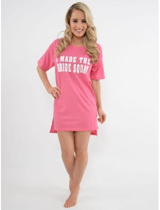 I Made The Bride Squad Nightshirt Pink