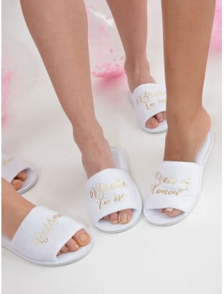 Personalised Bridal Party Spa Slippers