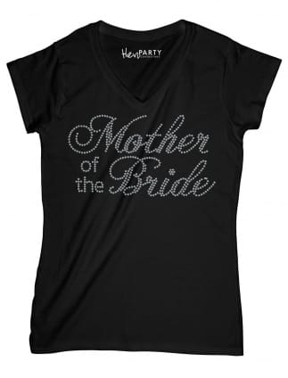 Mother of The Bride Silver Diamante/Rhinestone T-Shirts