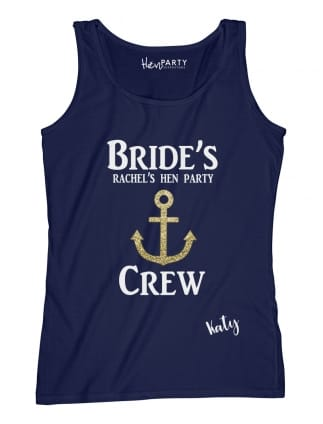 Bride's Crew Personalised Vest Top