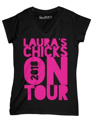 On Tour Personalised Hen Party T-Shirt