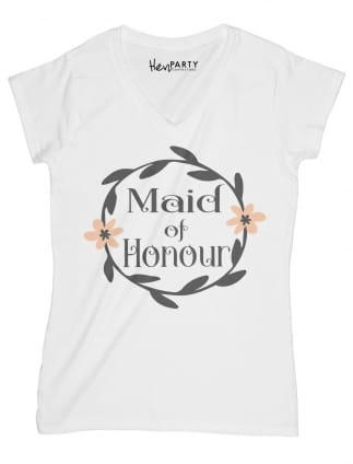 Wreath Design Maid of Honour T-Shirts