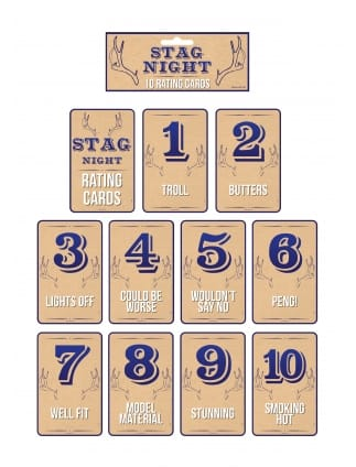 Stag Do Rating Cards - pack of 10