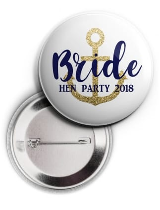Last Sail Before the Veil Bride Personalised Badge