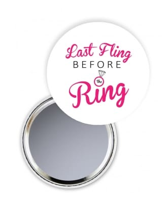 Last Fling Before The Ring Hen Party Pocket Mirror
