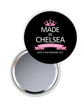 Made In Ruined In Hen Party Pocket Mirror