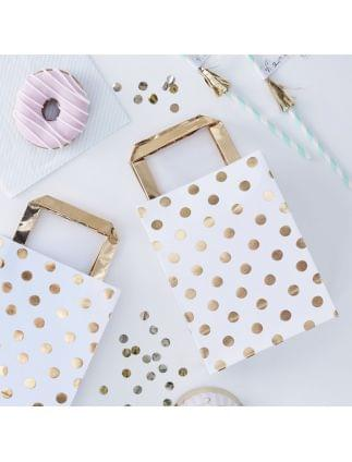 Gold Foiled Polka Dot Party Bags Pack of 5