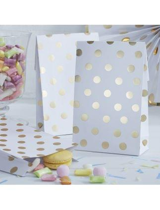 Gold Foiled Polka Dot Goodie Bags Pack of 8