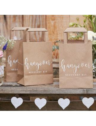 Hangover Recovery Kit Bags -Rustic Country Pack of 5
