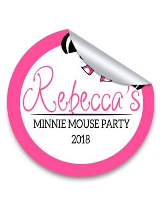Pink minnie mouse personalised hen party stickers pack of 10