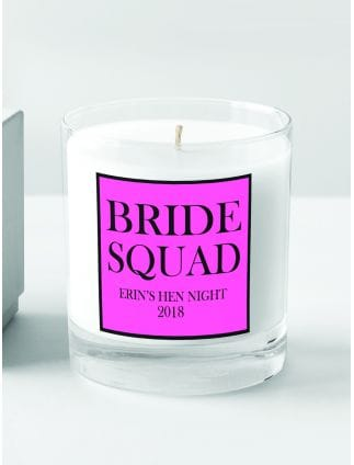 Bride Squad Personalised Candle
