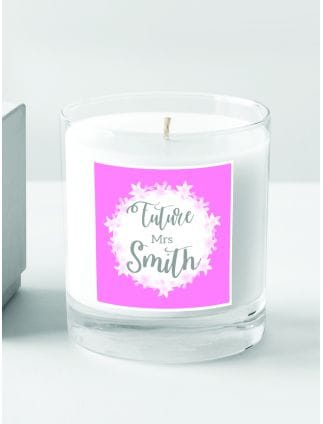 'Future Mrs' Personalised Candle